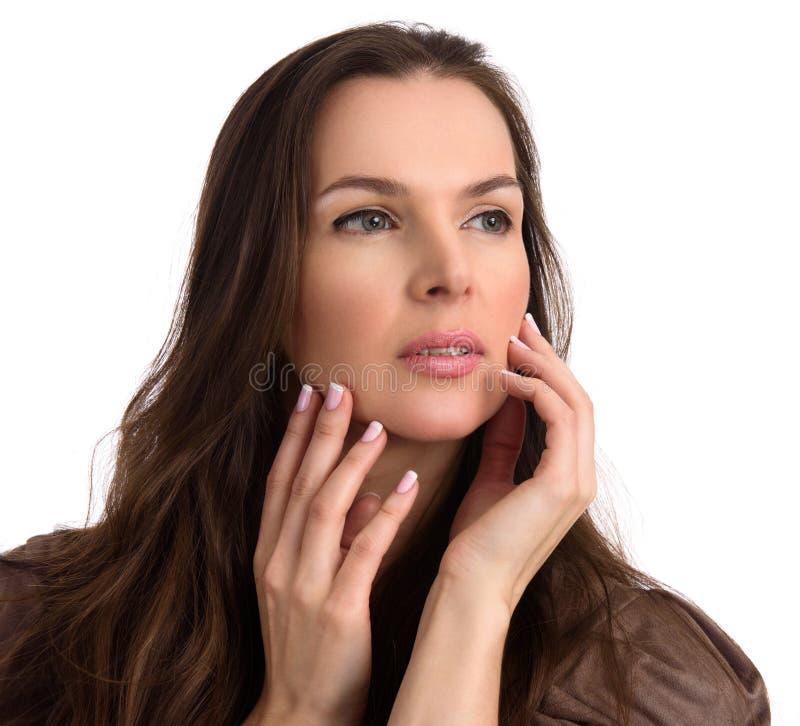 Beauty Portrait Of Mature Woman Stock Photo Image Of