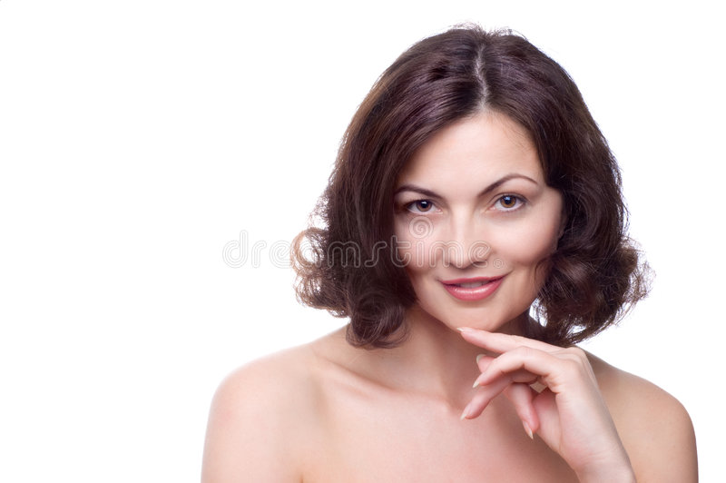 Beautiful middle-aged woman stock image