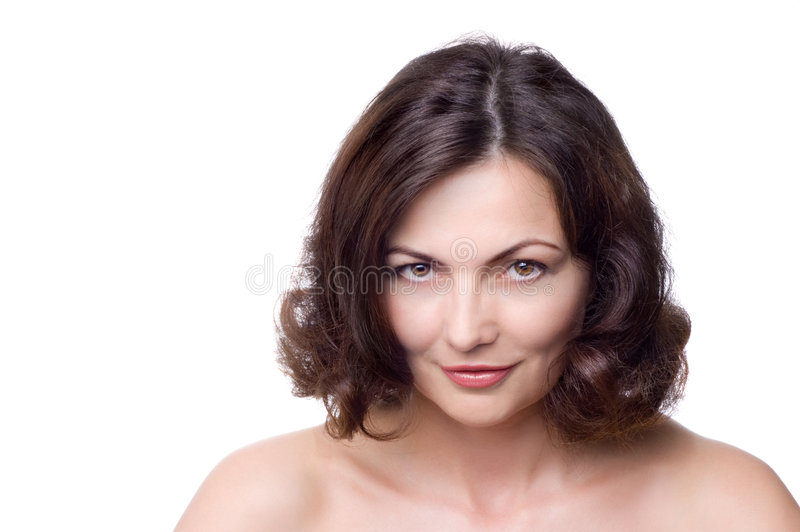 Beautiful middle-aged woman stock photography