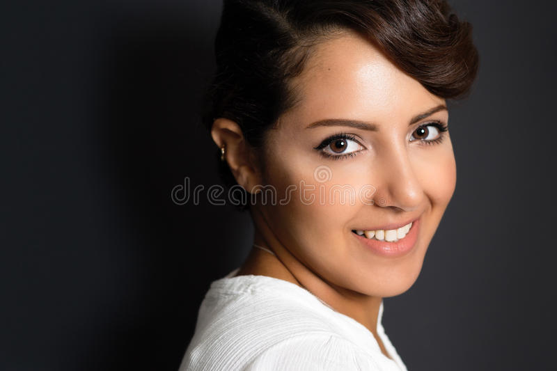 Beautiful Middle Eastern Woman Smiling royalty free stock photo