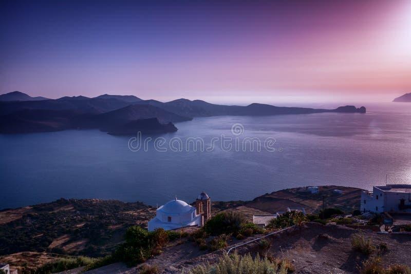 Beautiful Milos Seascape, Greece royalty free stock images