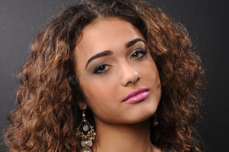 Download Beautiful Model With Curly Hair Stock Photo - Image: 8624816
