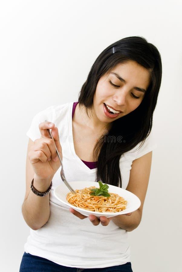 Download Beautiful womanl eating stock image. Image of beautiful - 18806719
