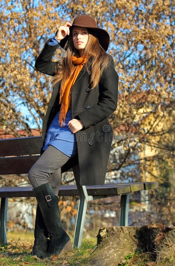 Download Beautiful Model In The Park Stock Photo - Image: 28907390