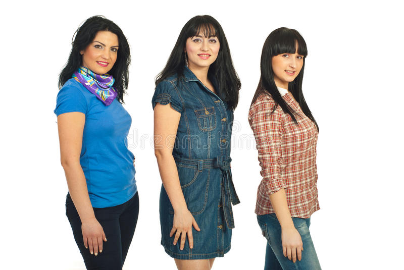 Download Beautiful Models Women In A Row Stock Photo - Image of beauty, holding: 18948416