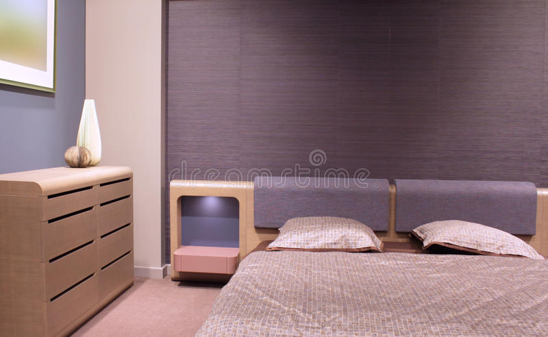Beautiful and modern bedroom interior design. royalty free stock photography