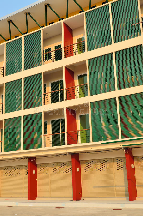 Beautiful modern building in chiang mai. Thailand royalty free stock images