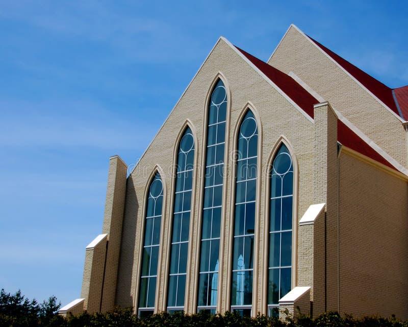 Beautiful modern church stock images