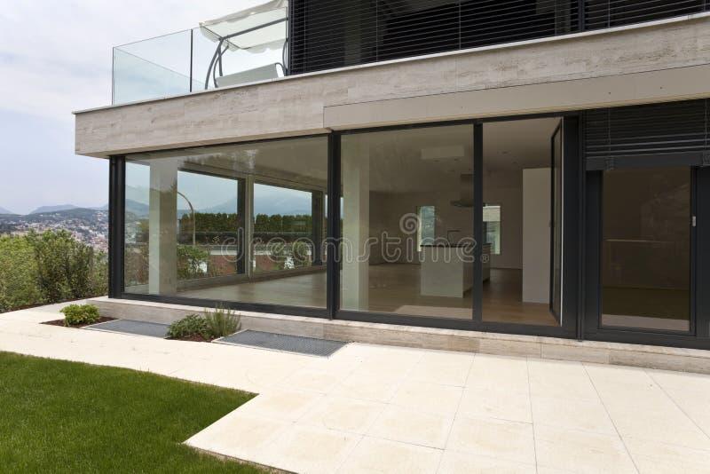 Beautiful modern house royalty free stock photos