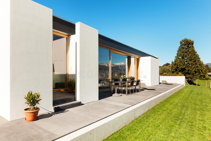 Beautiful modern house royalty free stock photo