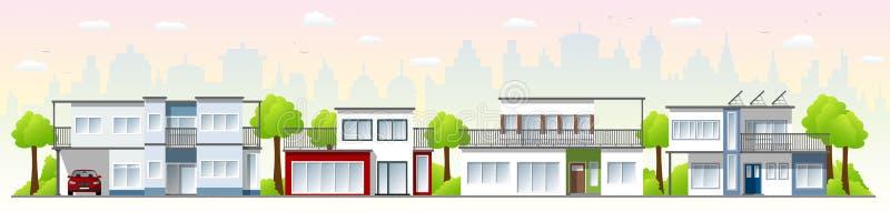 Beautiful modern houses vector illustration