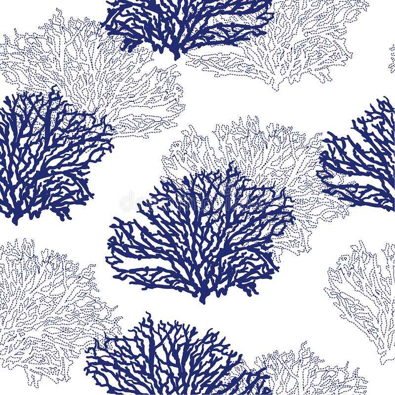 Beautiful modern seamless hand drawn coral pattern vector illustration design for fashion ,fabric,waalpaper,web and all prints. On light grey background color vector illustration