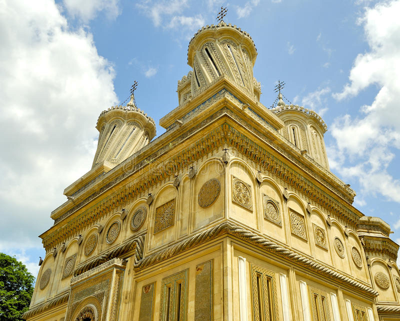 Beautiful monastery in Arges, Romania stock photography