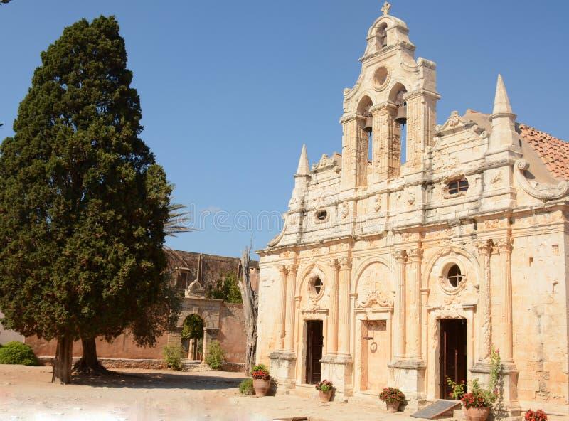 Beautiful Monastery Arkadi, Crete Moni Arkadiou royalty free stock image