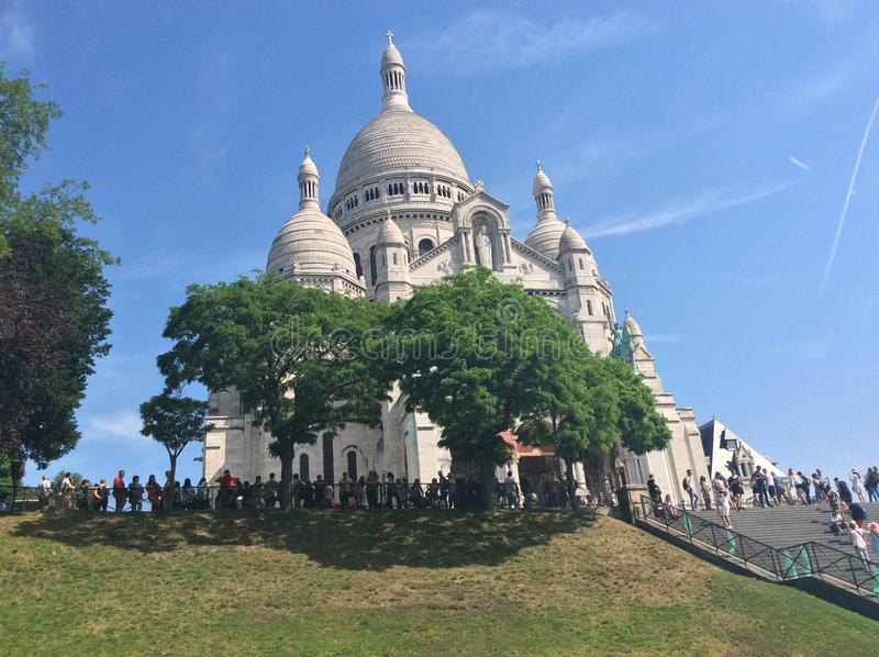 Beautiful Montmartre royalty free stock photography