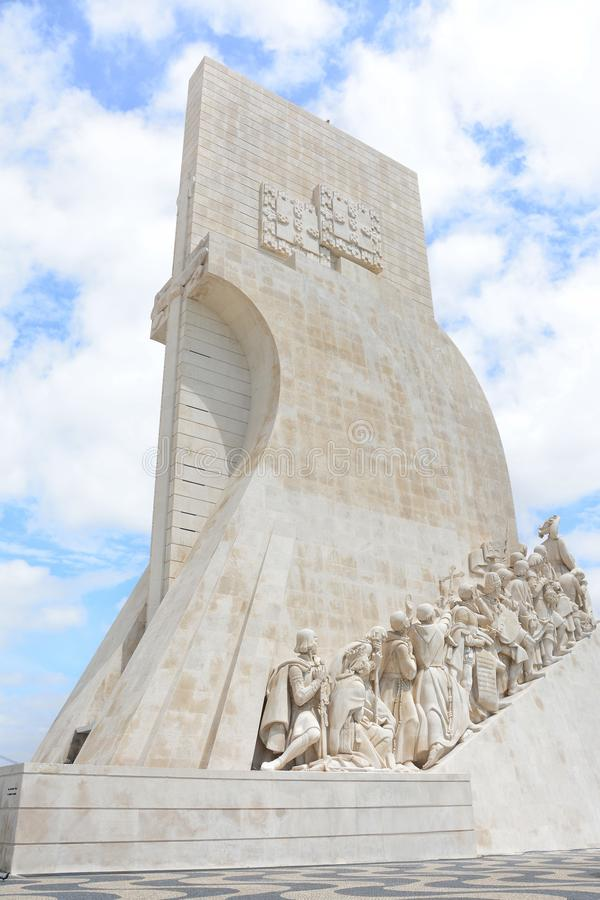 Beautiful monument in Lisbon. Portugal. royalty free stock photo