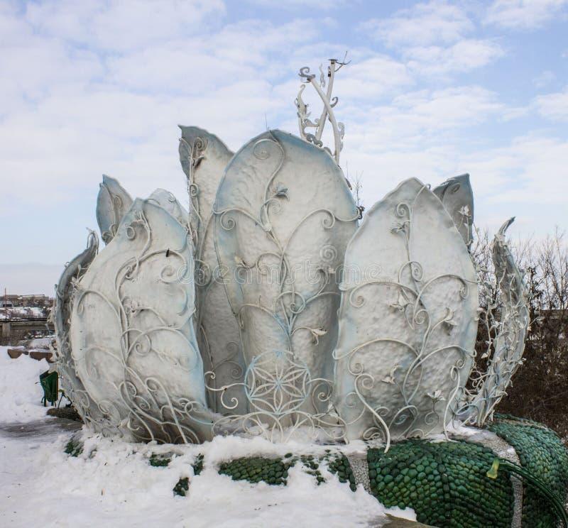 Beautiful monument. Winter beauty stock photo