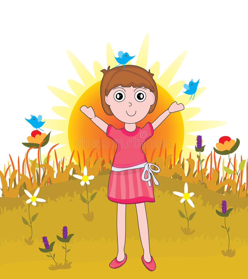 Download Beautiful Morning_eps stock vector. Illustration of birds - 25272623