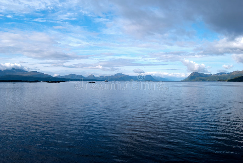 Download Beautiful Morning Sky Over A Fjord In Norway Stock Image - Image: 8024509