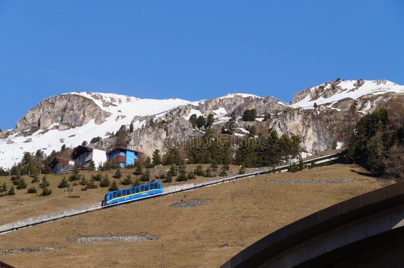 Beautiful morning in spring,St. Moritz royalty free stock image