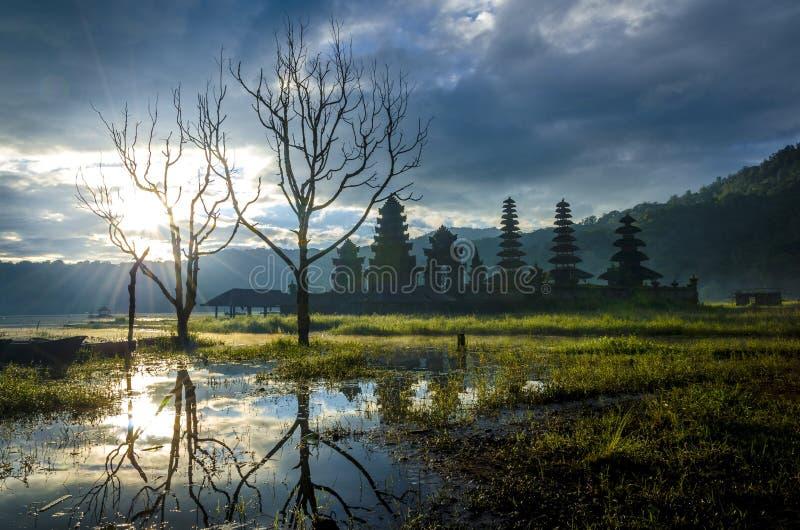 Beautiful Morning at Tamblingan Bali stock image