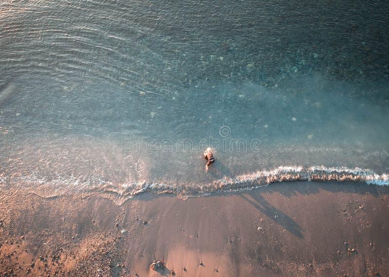 Beautiful Morning At Watudodol Beach Banyuwangi Indonesia. Enjoy the sunrise and landscape near the beach stock photos