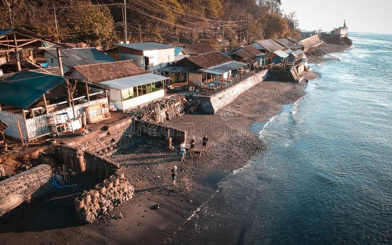 Beautiful Morning At Watudodol Beach Banyuwangi Indonesia. Enjoy the sunrise and landscape near the beach royalty free stock photos