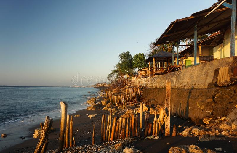 Beautiful Morning At Watudodol Beach Banyuwangi Indonesia. Enjoy the sunrise and landscape near the beach stock images
