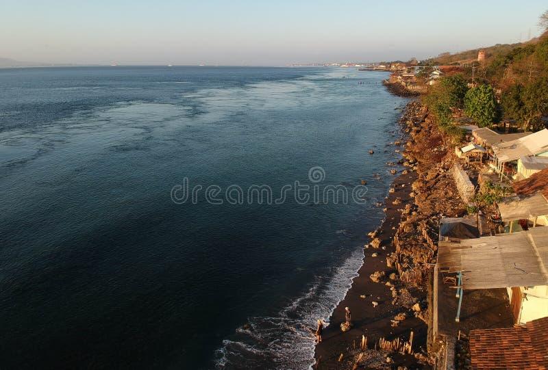 Beautiful Morning At Watudodol Beach Banyuwangi Indonesia. Enjoy the sunrise and landscape near the beach royalty free stock image