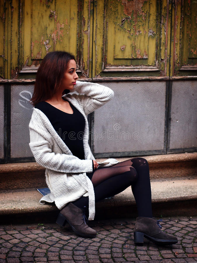 Beautiful Moroccan Girl in Padua. royalty free stock images