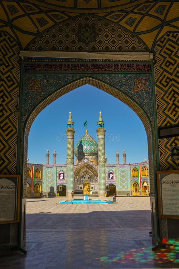 Beautiful mosaic decoration of the gate at Imamzadeh Helal Ali royalty free stock image