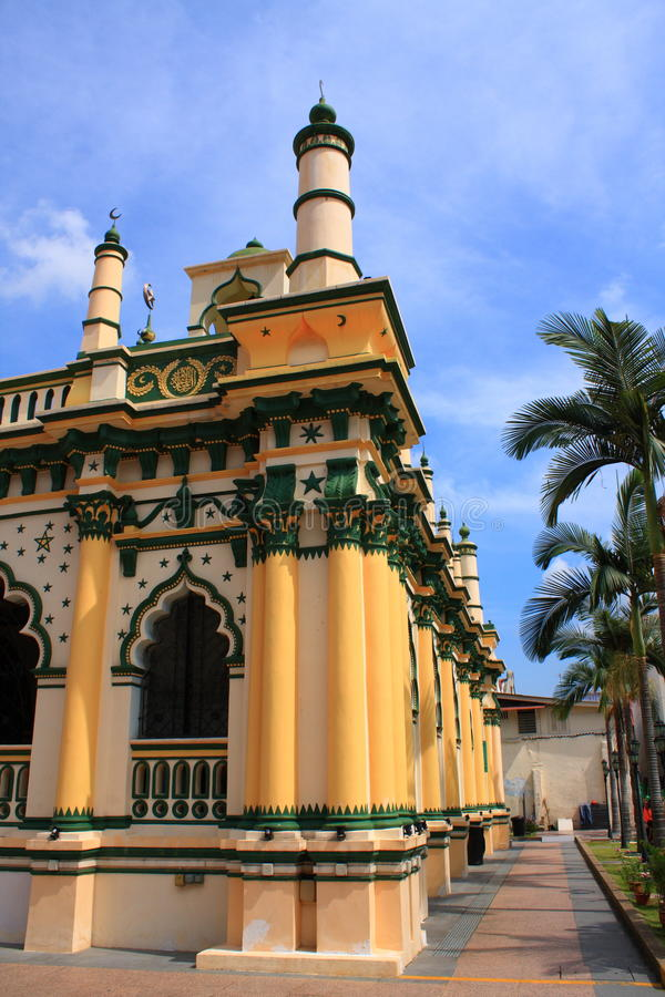 A Beautiful Mosque in Singapore. A very beautiful mosque located at Dunlop Street, Singapore stock photos