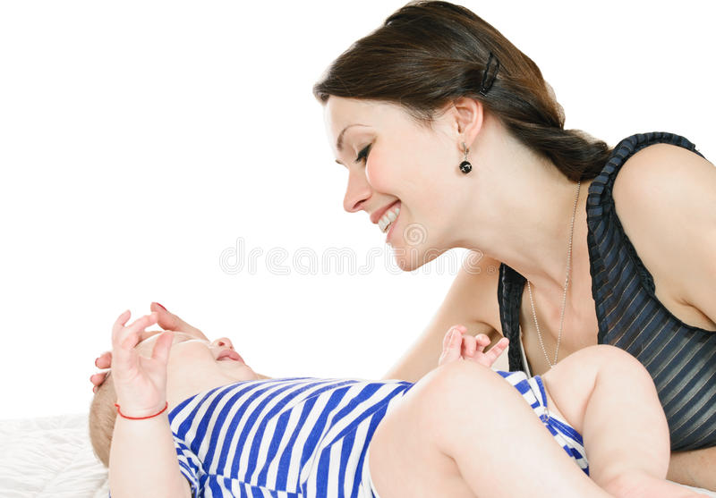 Download Beautiful mother and baby stock photo. Image of mother - 23587872