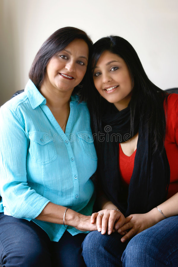 Beautiful mother and daughter royalty free stock photos
