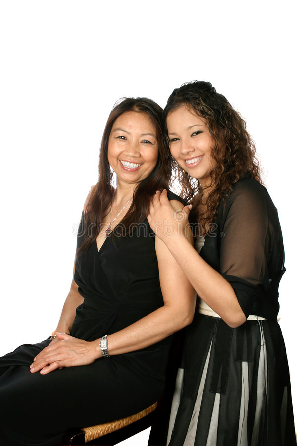 Beautiful mother and daughter royalty free stock photography