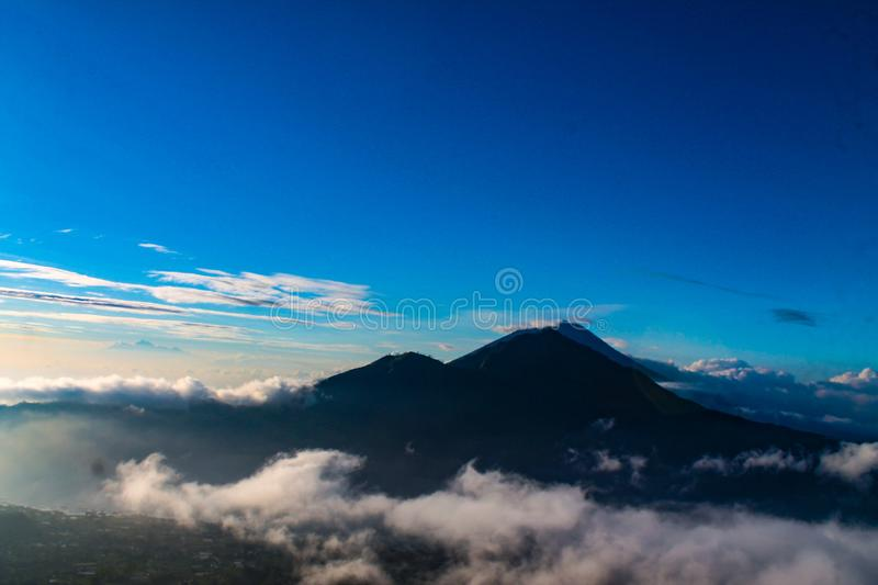Beautiful mount agung in bali royalty free stock photos