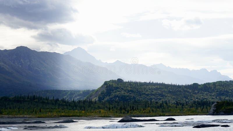 Mountain in Matanuska, Alaska in cloudy day. A beautiful mountain in Alaska in cloudy day stock photography
