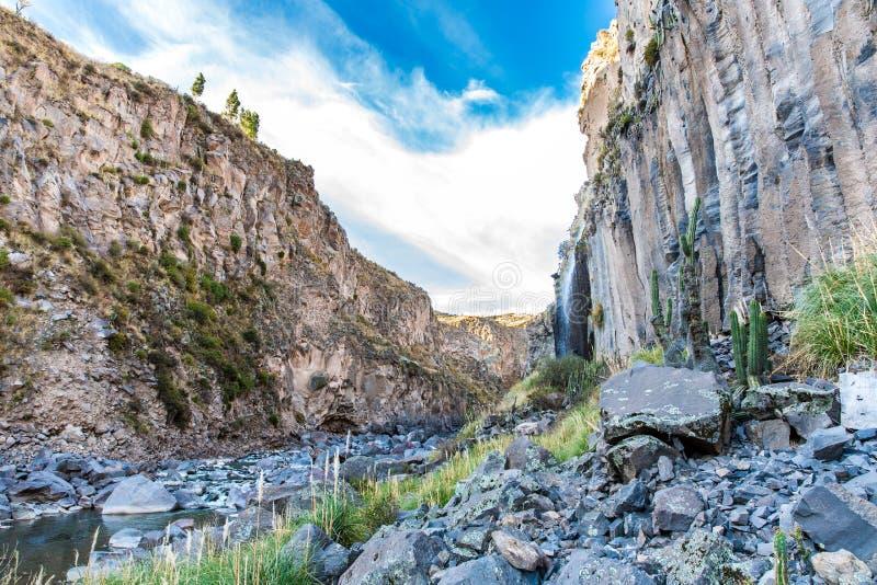 Beautiful mountain in Colca Canyon, Peru in South America stock image