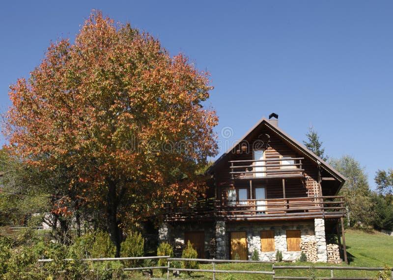 Beautiful mountain house royalty free stock image