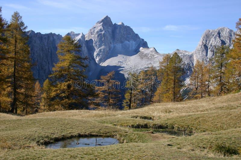 Beautiful mountain Jalovec stock photography