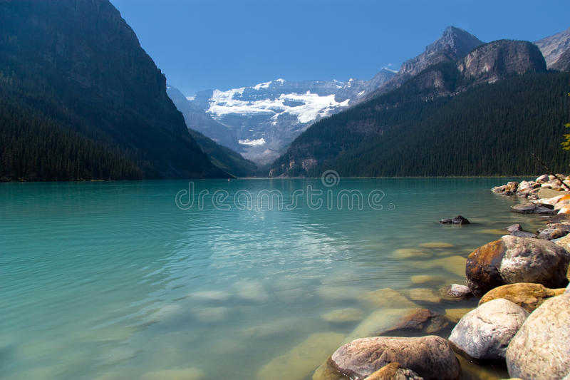Beautiful mountain lake royalty free stock photo
