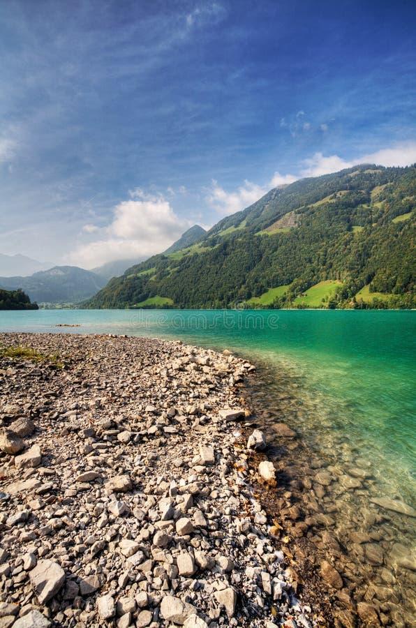 Beautiful mountain lake in Switzerland stock image