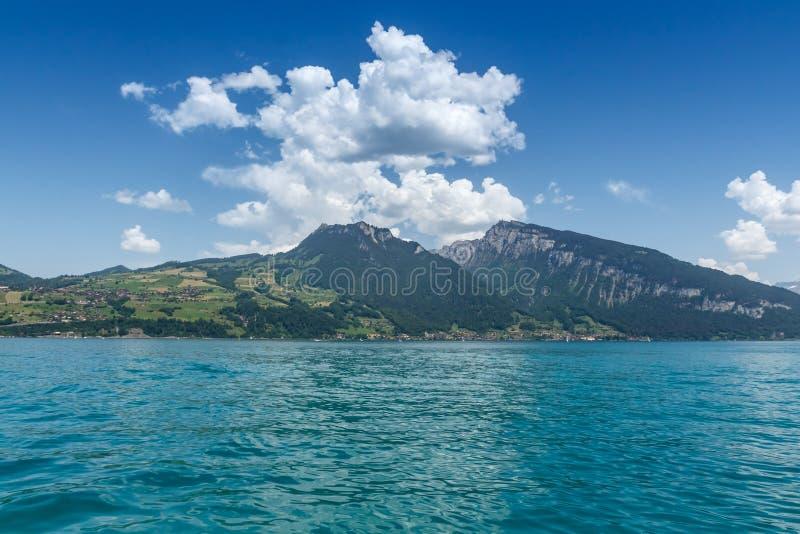 Beautiful mountain, Lake Thun, Switzerland stock photography