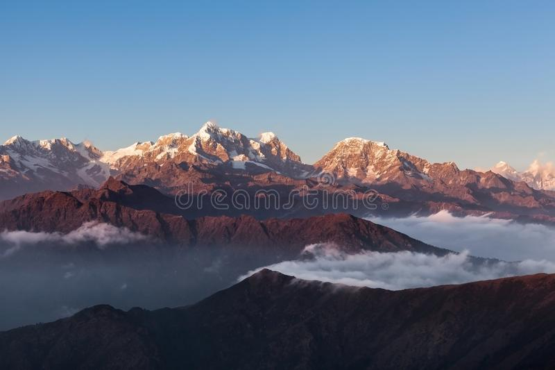Beautiful mountain landscape with amazingly. stock photo