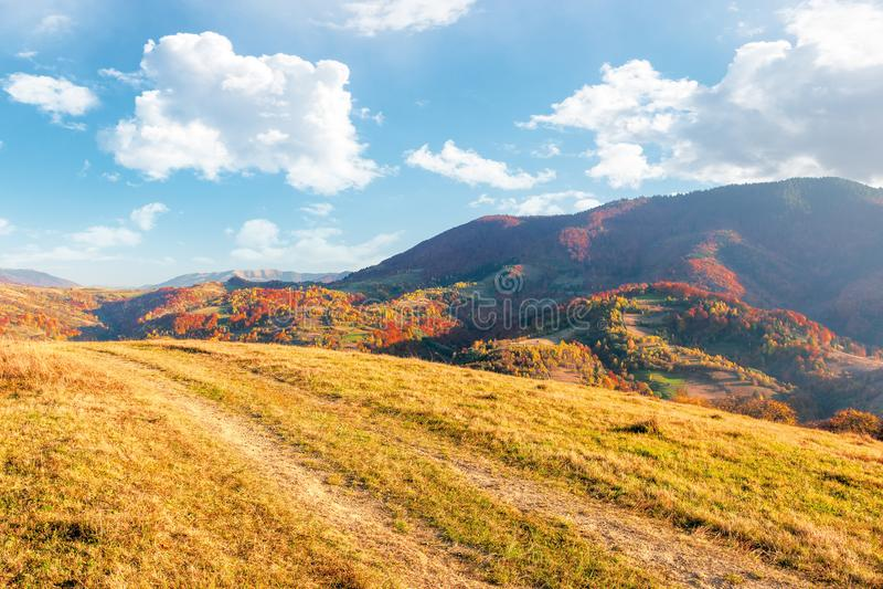 Beautiful mountain landscape in autumn royalty free stock photo