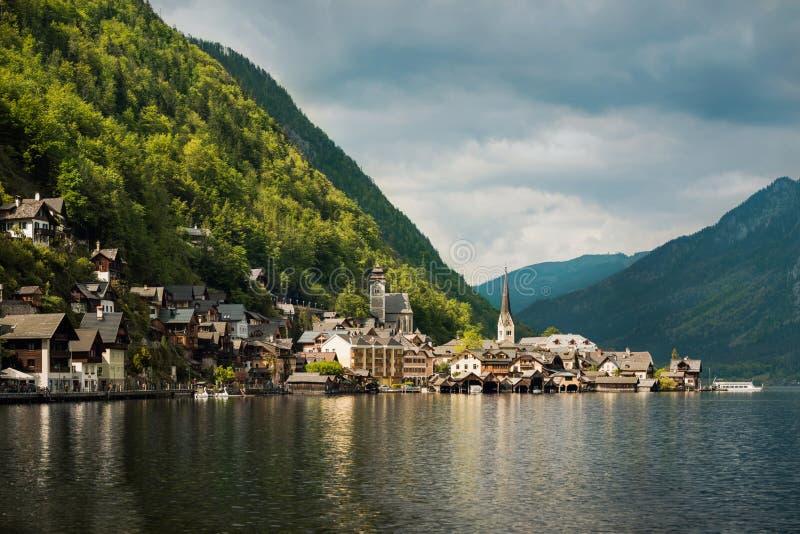 Beautiful mountain landscape of Hallstatt village. Tirol, Austria stock photography