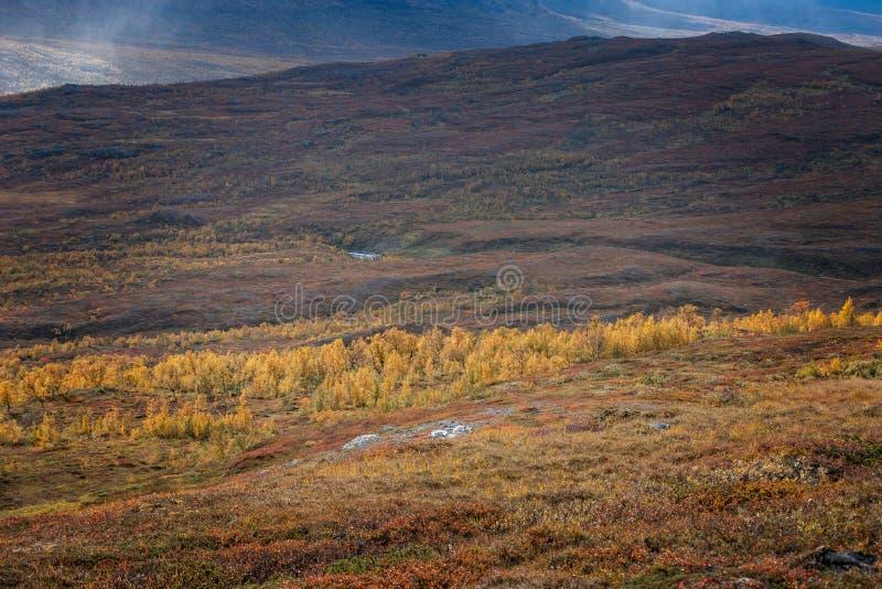 Beautiful mountain landscape in autumn stock photography