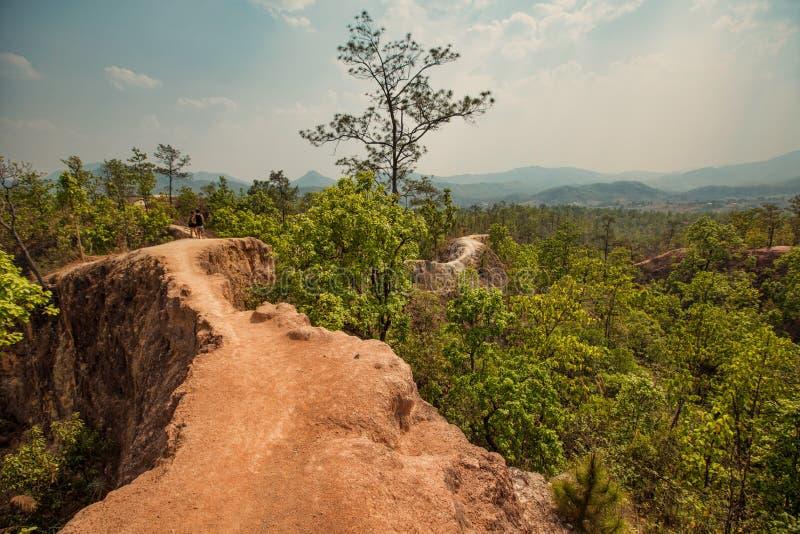 Beautiful mountain landscape. Pai canyon, Maehongsorn, Thailand stock images