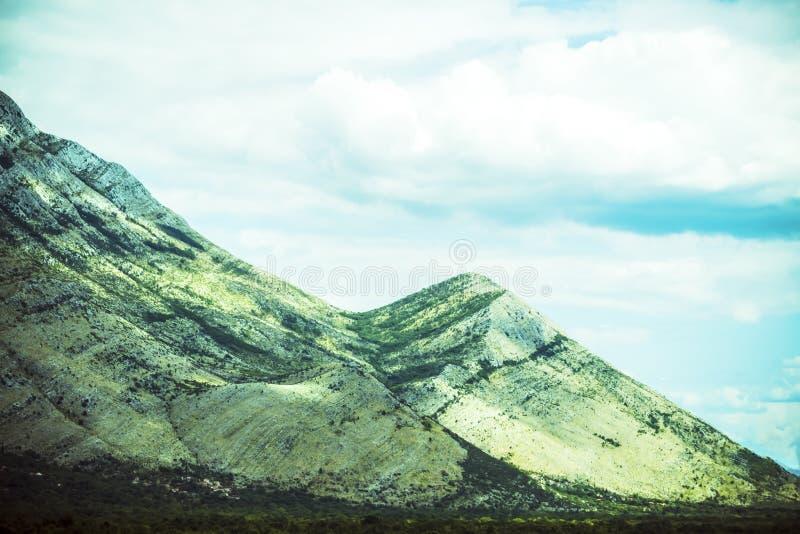 Beautiful mountain landscape on sunny summer day. Montenegro, Albania, Bosnia,  Dinaric Alps Balkan Peninsula. Ð¡an be used for. Beautiful mountain landscape stock photo