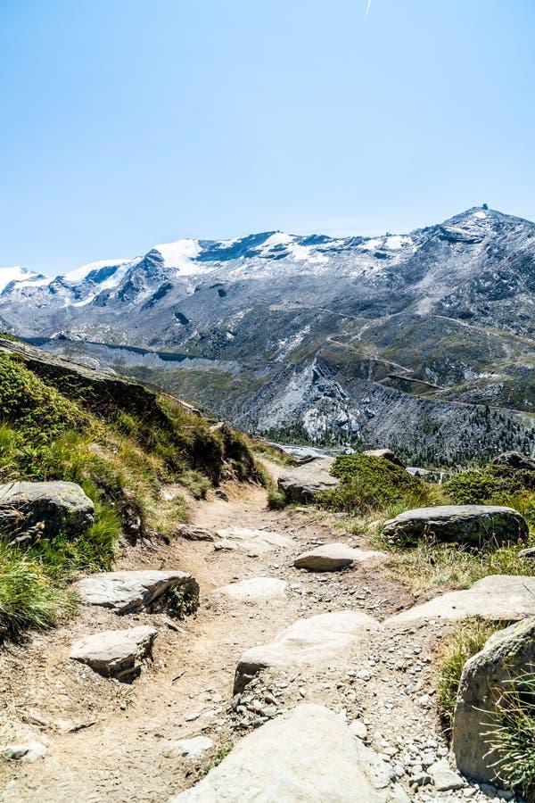 views of the Matterhorn peak in Zermatt, Switzerland royalty free stock image
